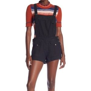 Free People Expedition Short Overall, Black NWT